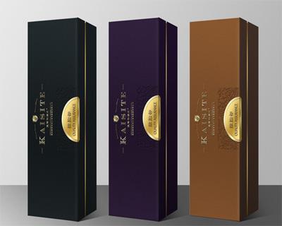 澳洲外贸红酒条状书型酒盒