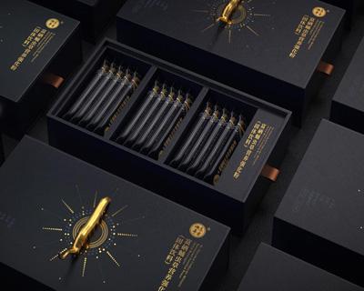 富硒虫草抽屉条形保健品包装盒