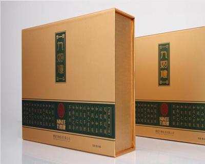 九如健书型保健品包装盒