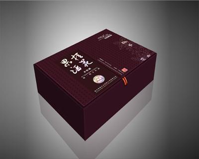 桂花果酒掀盖酒盒