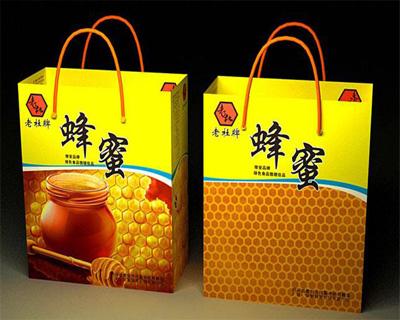 老杜野生蜂蜜手提袋定制