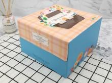 带提手白卡纸蛋糕包装盒