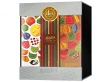 相思美味五片式内嵌板磁铁书型月饼包装盒